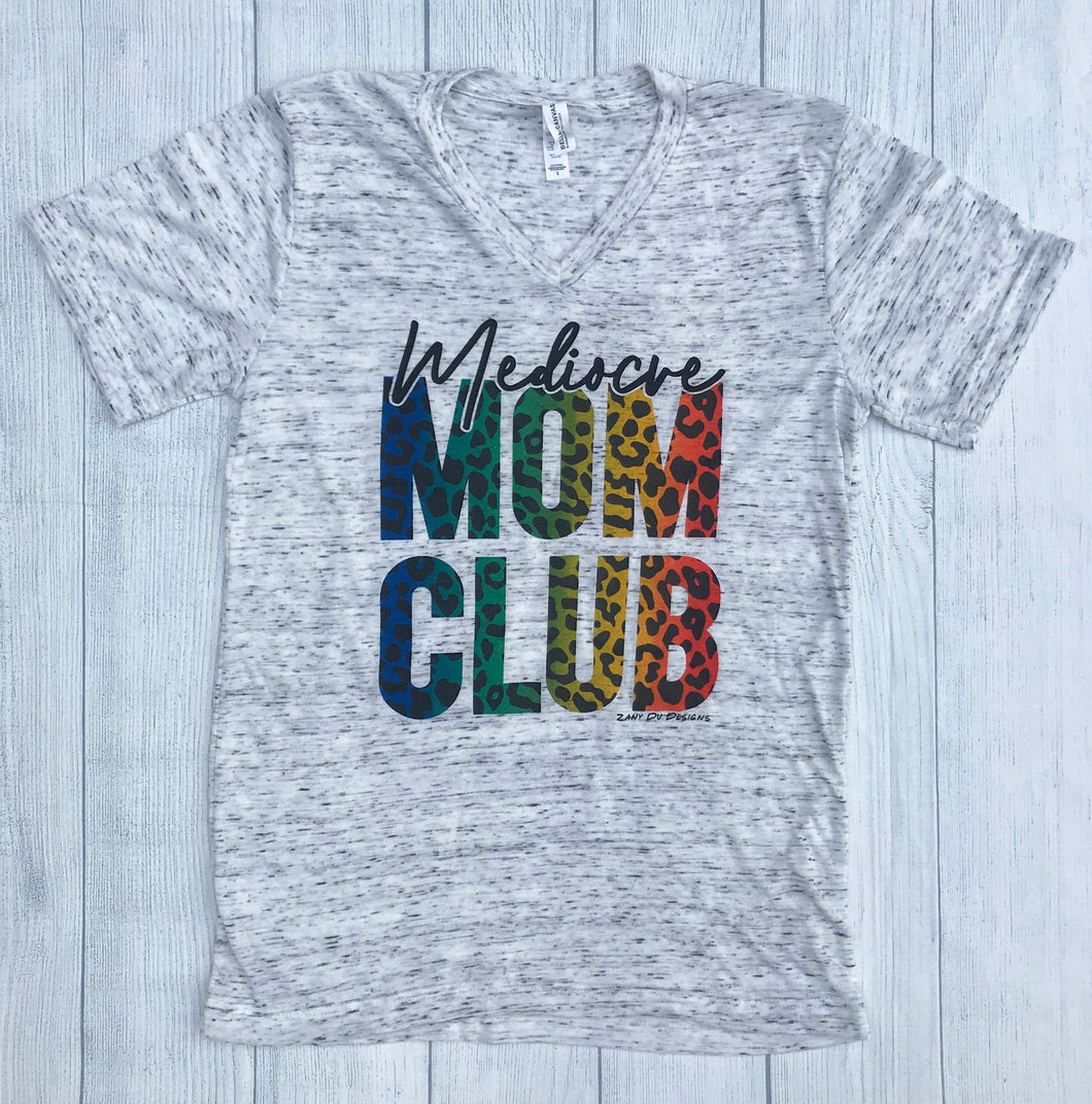 Mediocre Mom Club RAINBOW CHEETAH Tee Mom