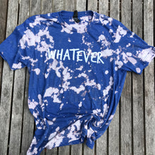 Whatever Bleach Royal Blue Unisex Women Adult Tee