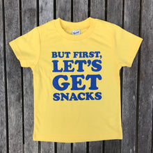 But First Let's Get Snack INFANT Yellow Tee New