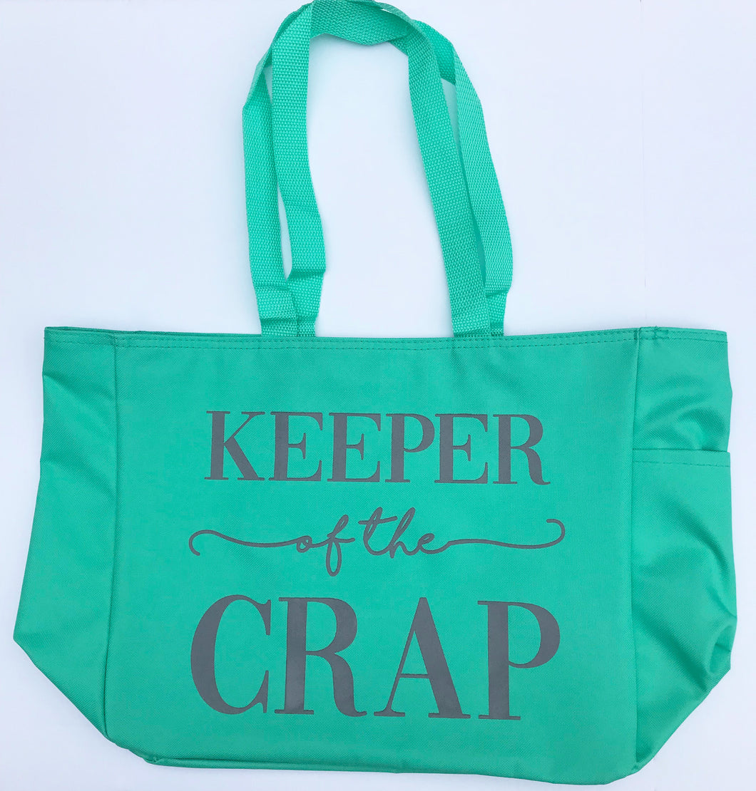 Keeper of the Crap Mint Green Tote Bag MD