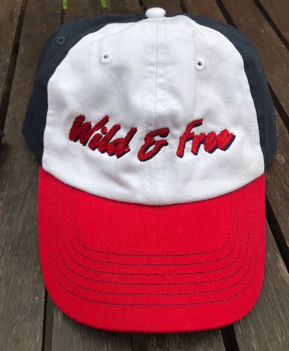Wild & Free Red White Blue Baseball Cap Holiday