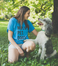 Must Pet Dogs Heather Turquoise Blue Adult Unisex Tee Dog Lover Obsessed