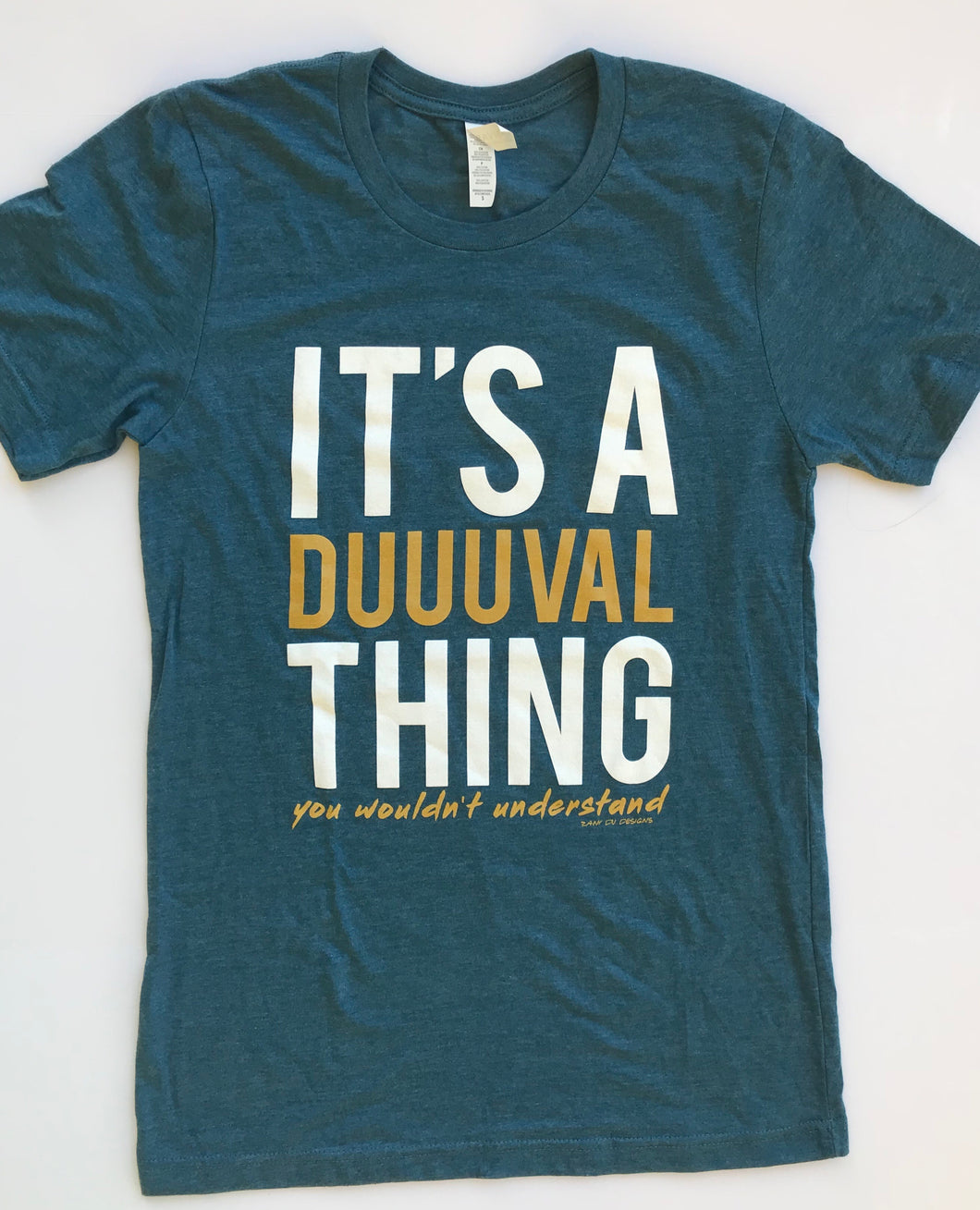 It's A Duuuval Thing Duval Florida Teal Gold Football Unisex Tee