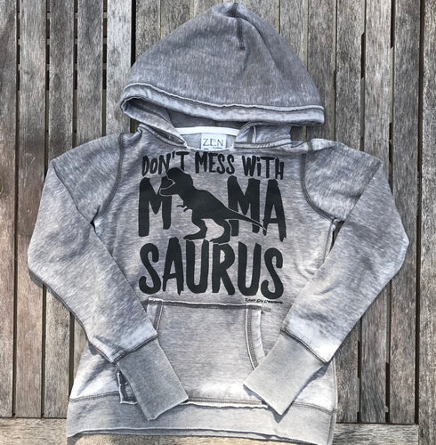 Don't Mess with Mamasaurus ACID Wash Sweatshirt Women's Mother Mom