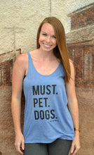 Must Pet Dogs Triblend Light Blue Women's Slouchy Tank Top
