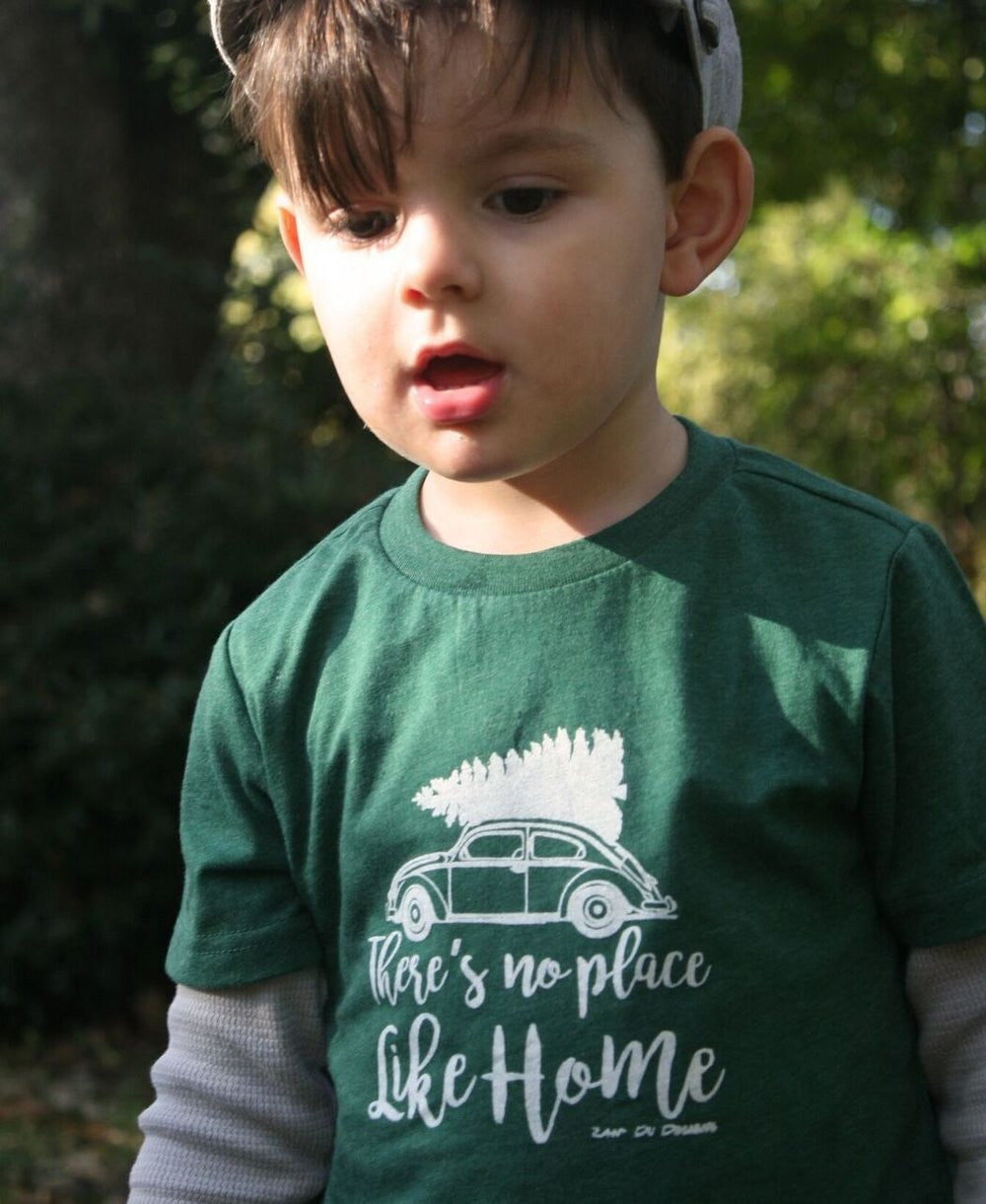 There's No Place Like Home Christmas Tree Youth Tee Holiday