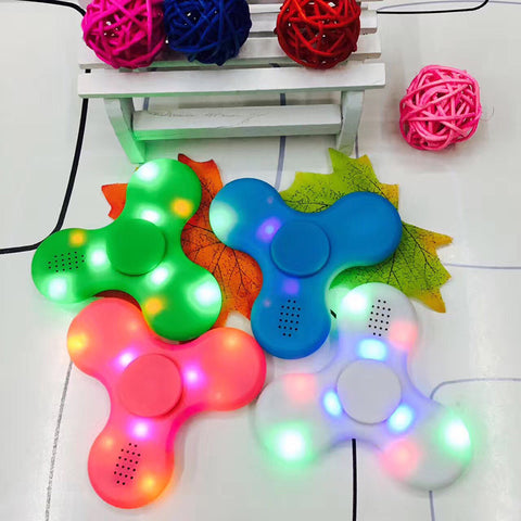LED Fidget Hand Spinners with Bluetooth Speakers
