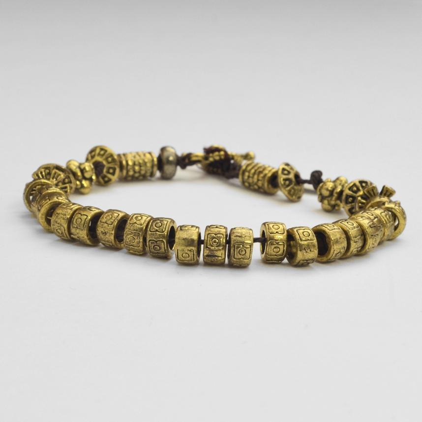 Gold-plated Brass Beads Bracelet - Maison Fusion