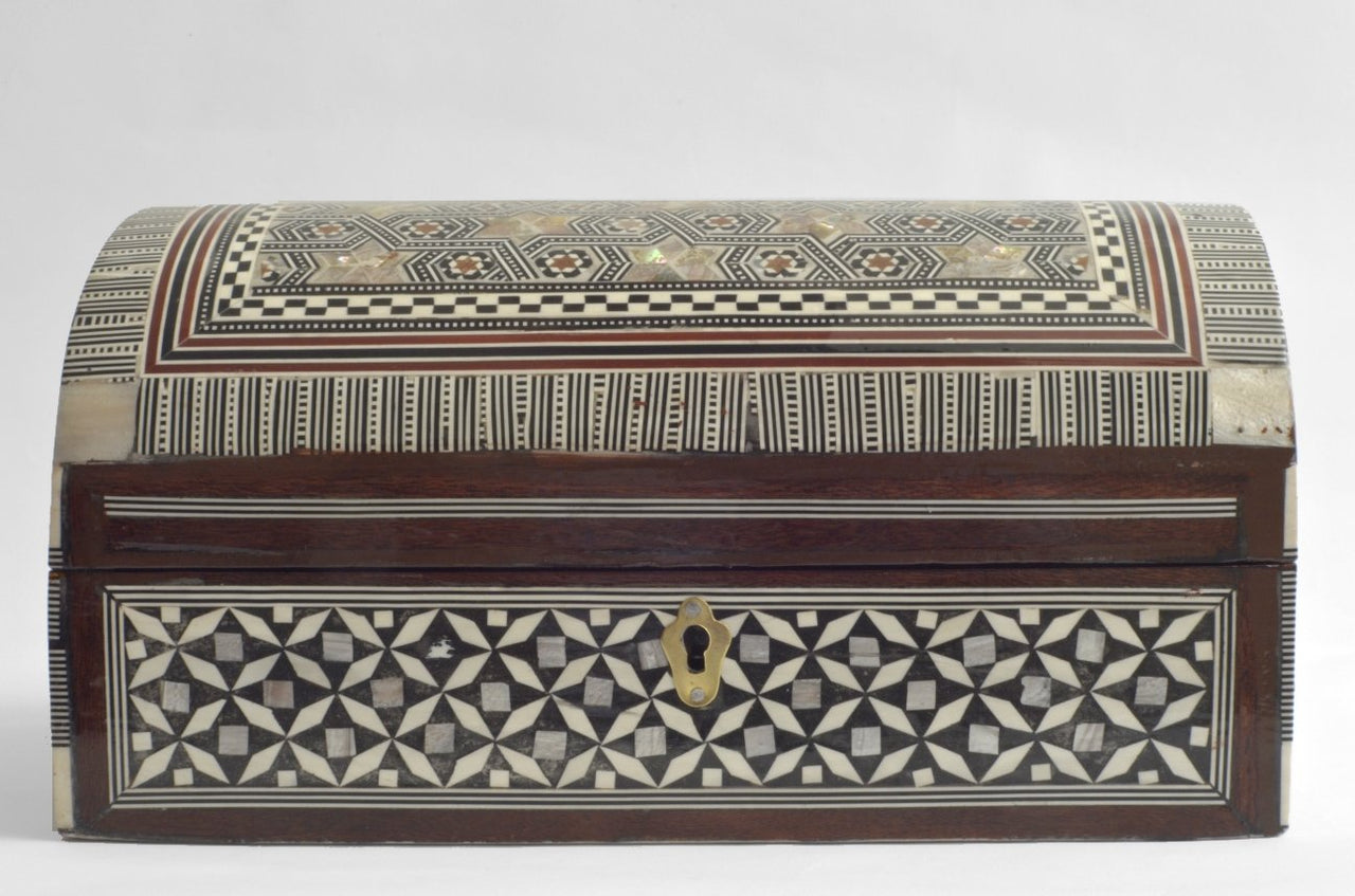 Jewelry Boxes with Inlaid Mother of Pearl large