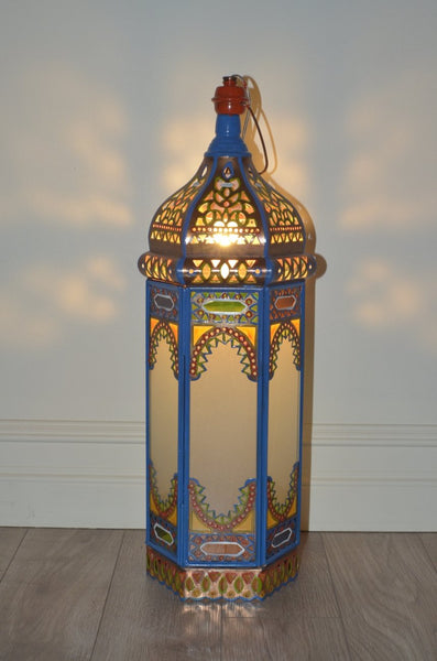Electric colourful oriental lanterns Blue