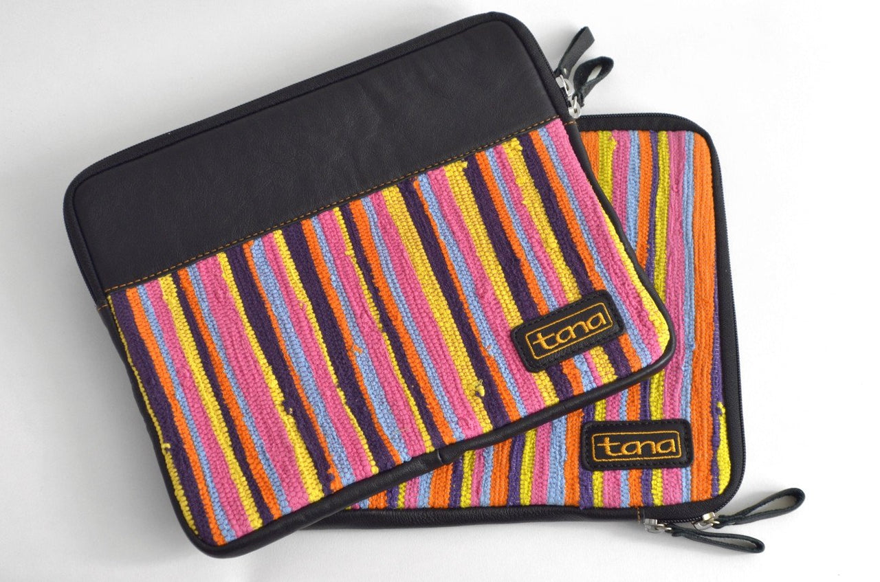 Recycled Fabric and leather IPad Cases - Maison Fusion