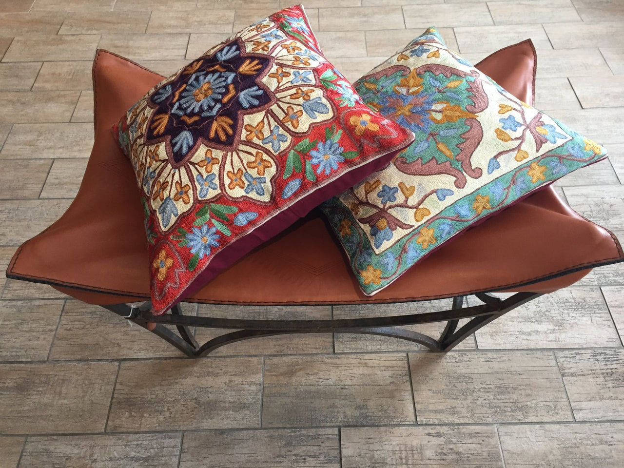 Cushion Covers with Silk Thread Embroidery - Maison Fusion