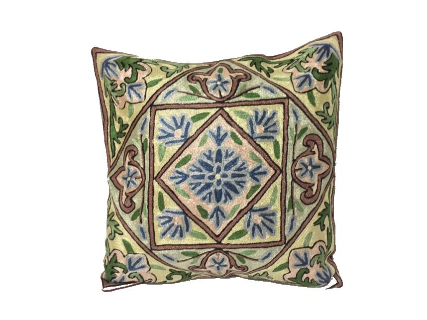 Silk Thread Embroidered Cushion Covers - Pattern D