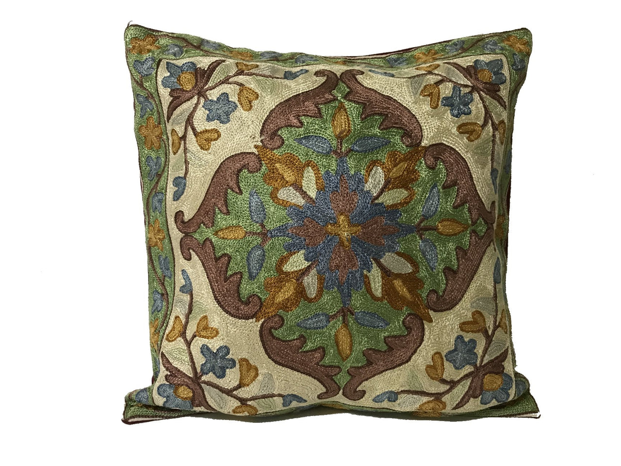 Silk Thread Embroidered Cushion Covers - Pattern E