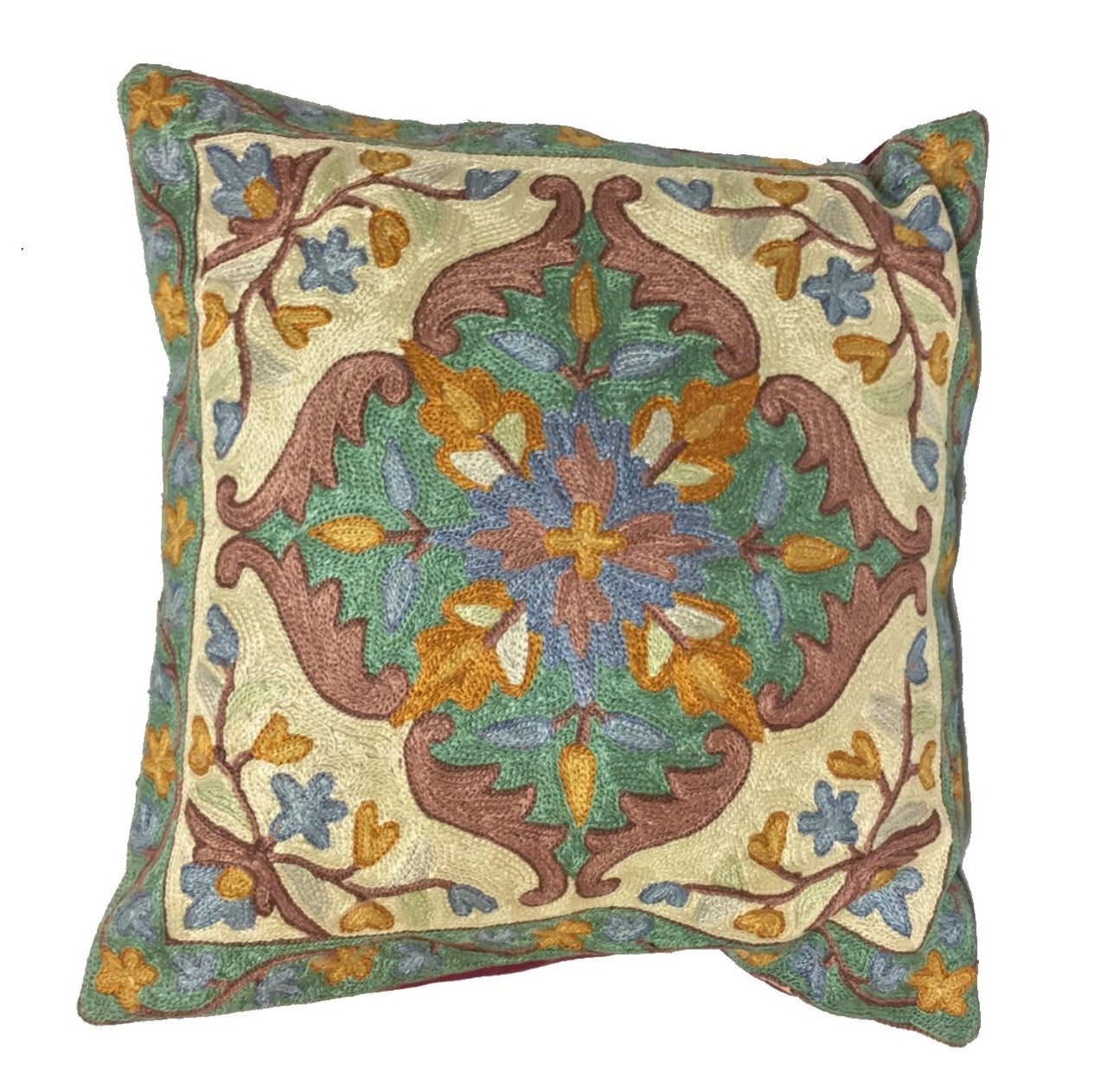 Silk Thread Embroidered Cushion Covers - Pattern F