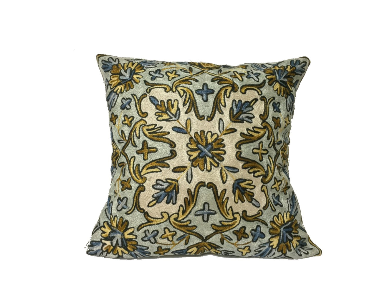 Silk Thread Embroidered Cushion Covers - Pattern G