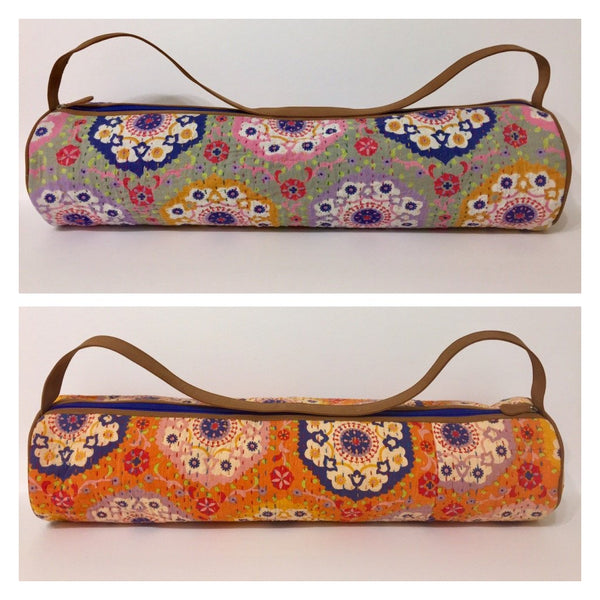Pilates Mat Bag with Large Inside Pocket Mandala Pattern