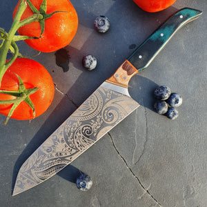 "Chef's Knife ""Waves"""