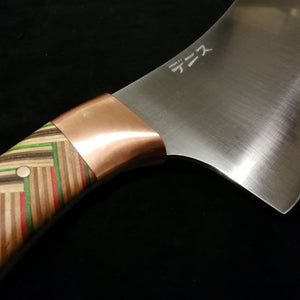 Cleaver with reclaimed skateboard handle