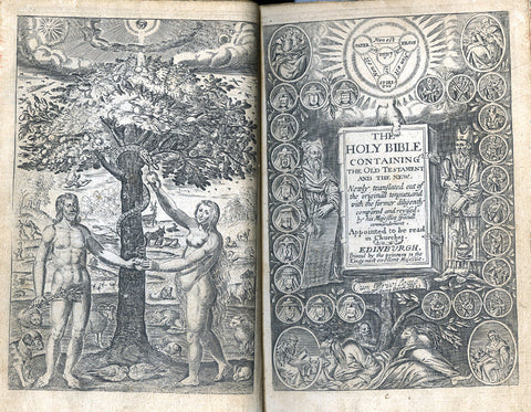 illustrations in the opened Bible