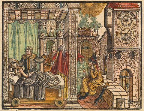 Illustration of a story about King Hezekiah's life