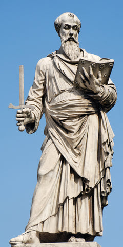 The statue of St Paul on Ponte Sant Angelo in Rome