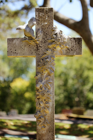 The cross made of stone