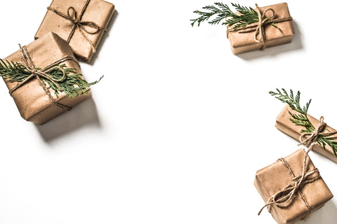 Packages wrapped in brown paper and twine