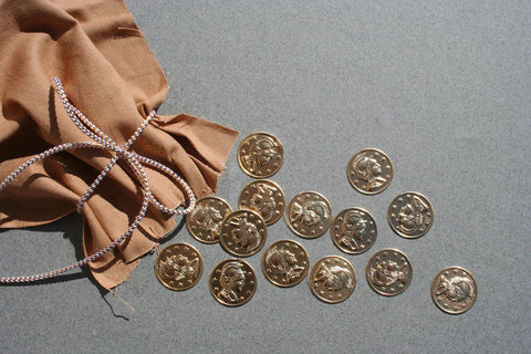the bag with coins