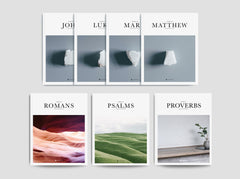 Gospels Set, Psalms, Romans, & Proverbs (Softcover)