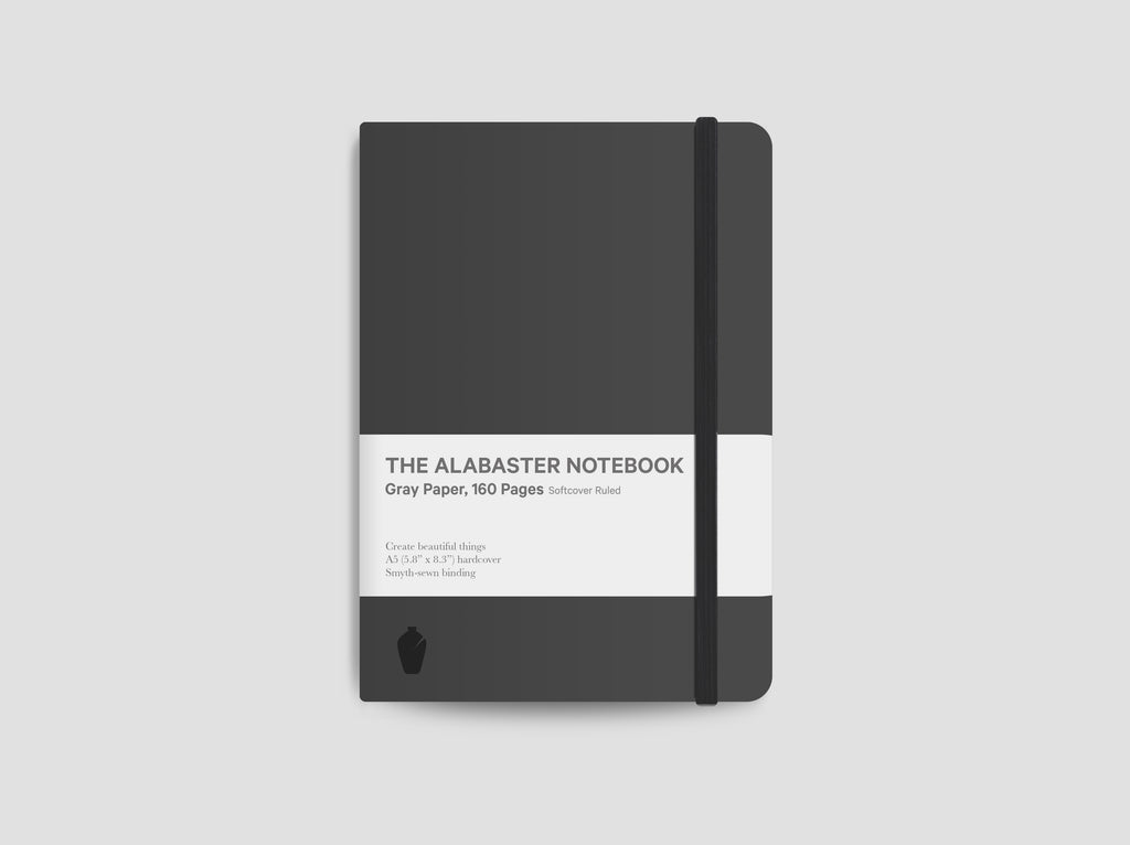 Gray Paper Softcover Notebook