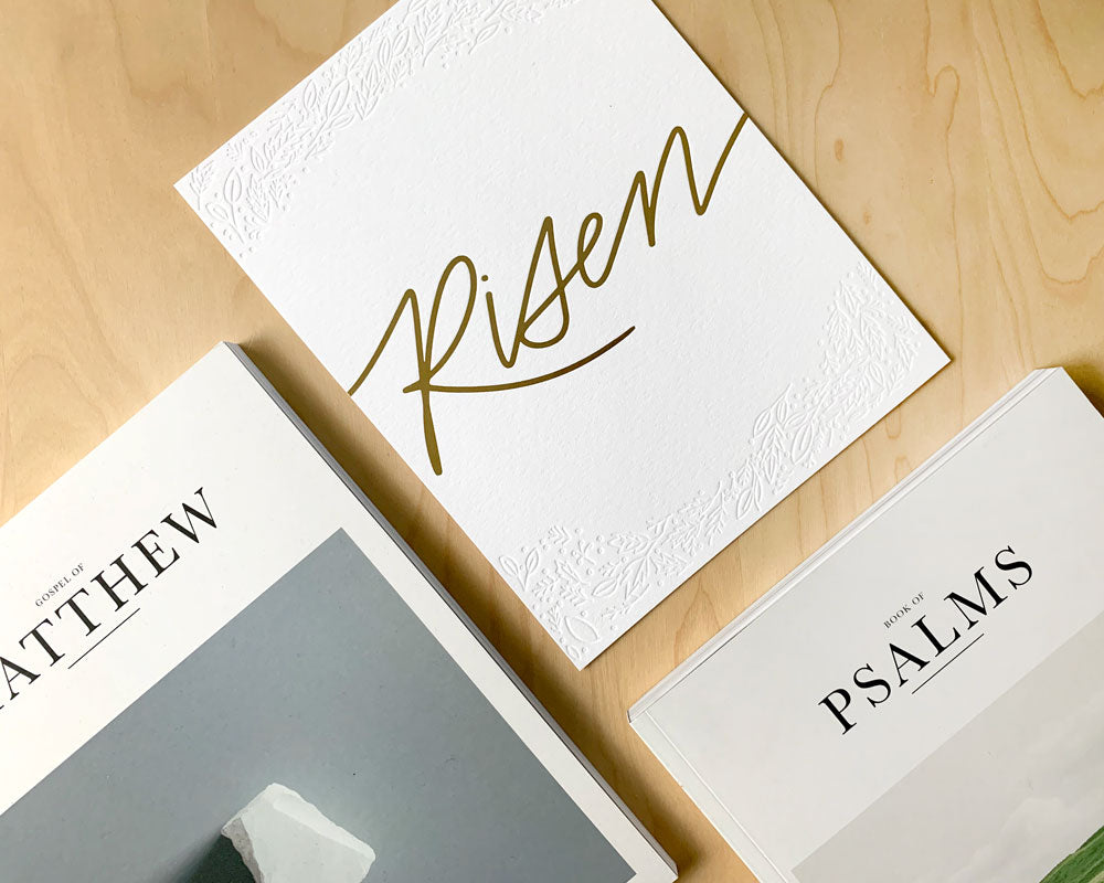 Risen Art Print | Alabaster Bible | Alabaster Co