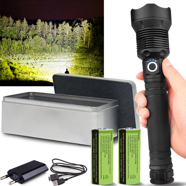 18000 Lumens XHP70.2 LED Flashlight
