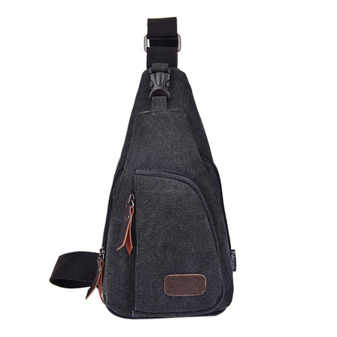Military Canvas Male Sling Shoulder Bag Handbag Travel Chest Bag