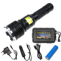 Tactical Elite Rechargeable Flashlight with COB LED Zoom 4 Modes