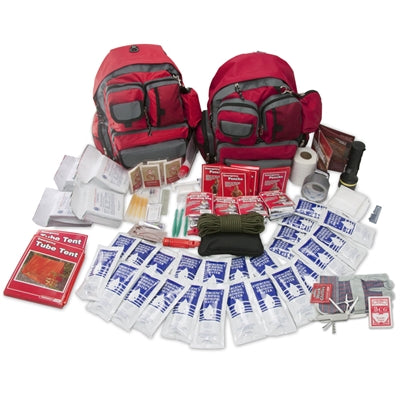 4 person Family Emergency Prep Survival Bug Out Bag Gear Kit 72 hours