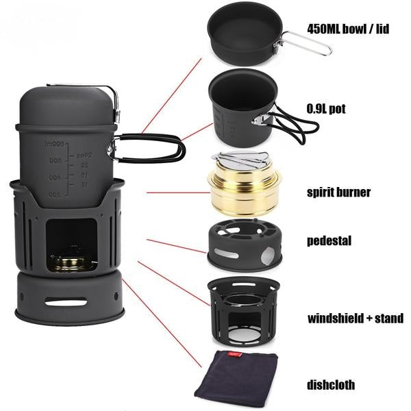 Camping Cooking Set Portable Stove