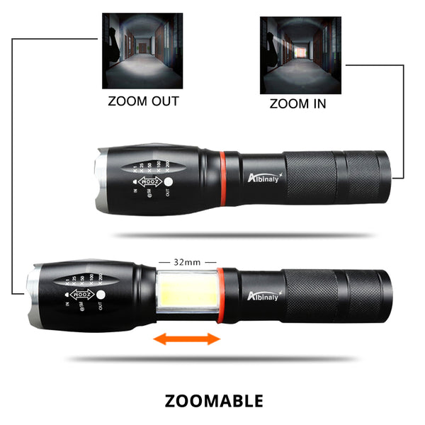 CREE XML T6 Led flashlight 5000 Lux COB Lantern  Magnetic Base