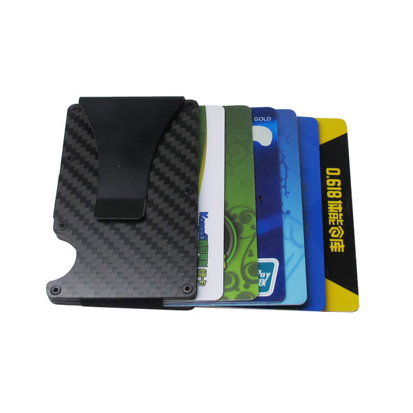 RFID Anti-Theft Carbon Fiber Credit Card ID Wallet