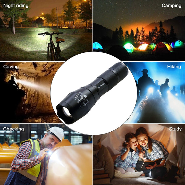 LED Flashlight T6 Tactical flashlight + Q5 Mini Torch Lanterna