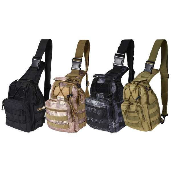 Tactical Military Compact Shoulder Sling Backpack Oxford Camping Travel Hiking Bag