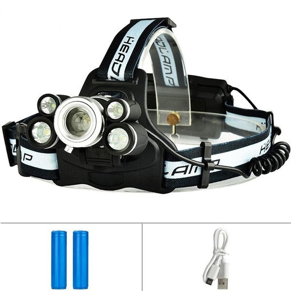1500LM T6 Q5 Zoomable Headlamp