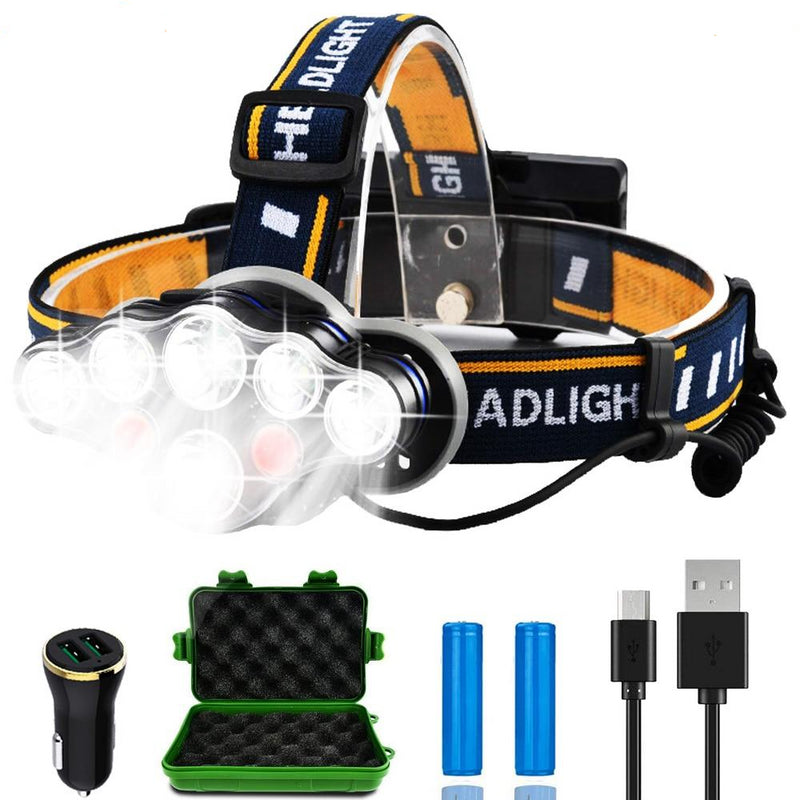 Rechargeable LED Headlamp T6 COB 8 Modes