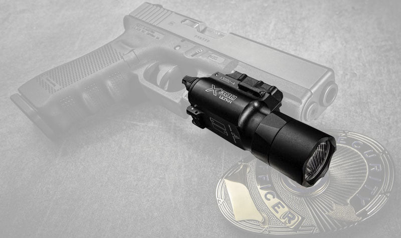 Airsoft Flashlight with Picatinny Rail