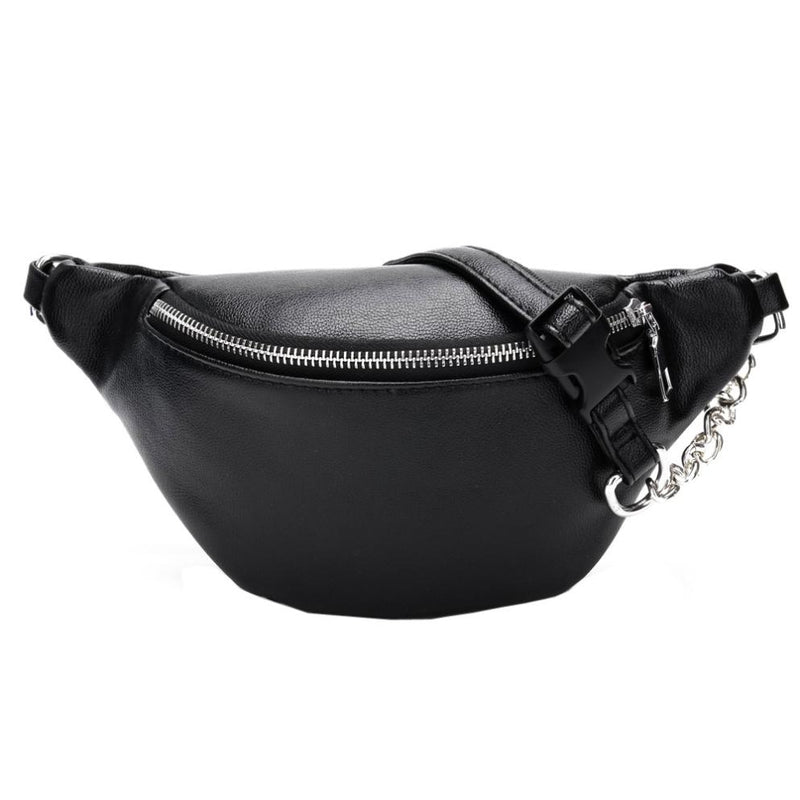 Chain Leather Chest Bags