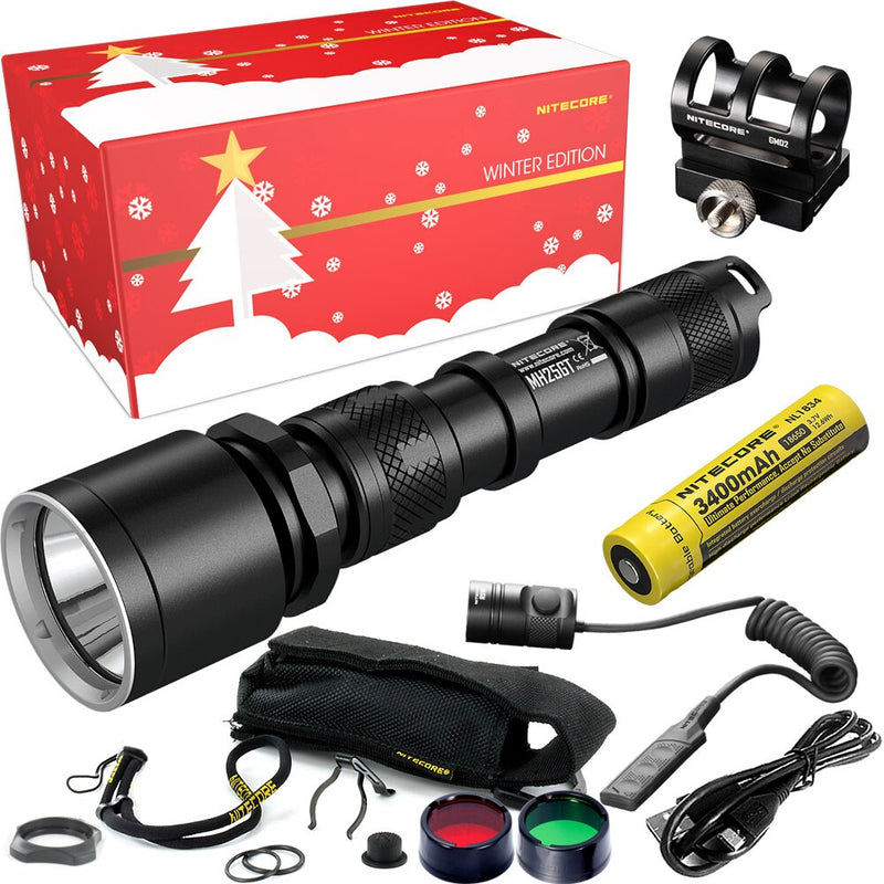 Hunting Holiday Gift Set 1000 Lumen USB Rechargeable Flashlight