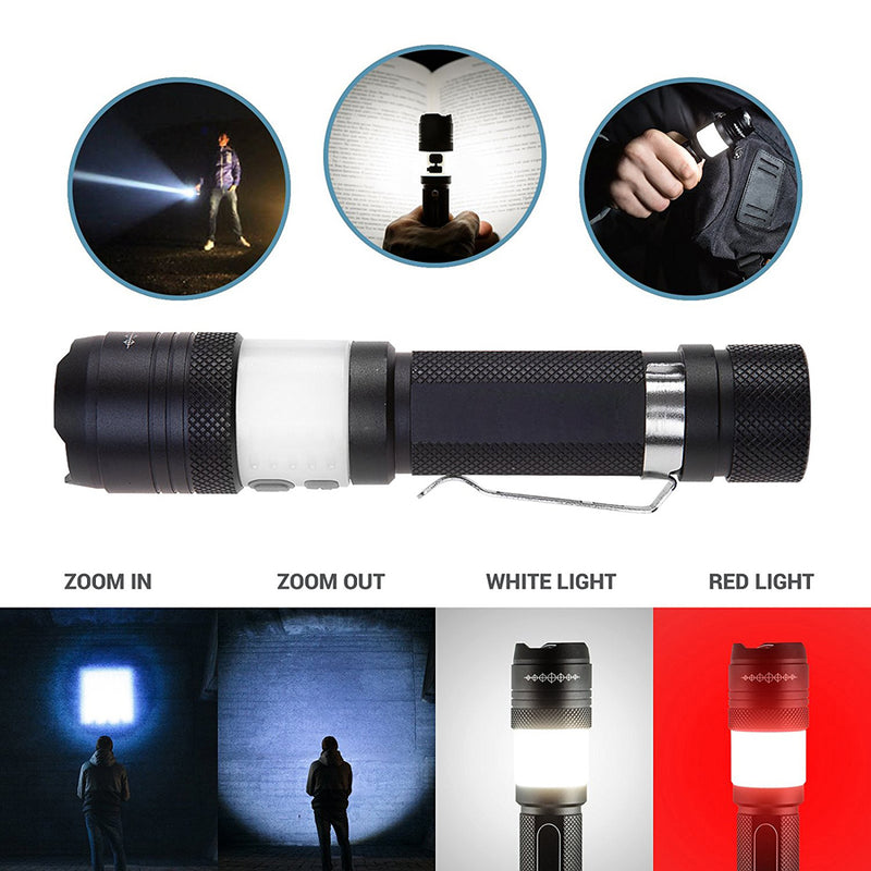 Tactical Elite Rechargeable Compact Mini Flashlight 6 Modes