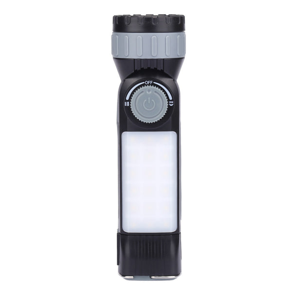 LED  Camping Flashlight Lantern Light Adjustable Power Bank USB Rechargeable Emergency Light