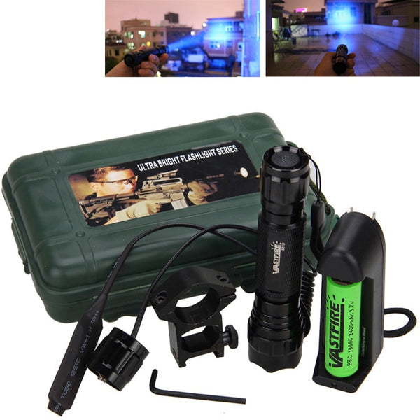 Led Tactical Flashlight+Optional Rechargeable 18650 Battery&Charger