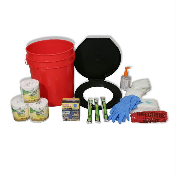Ready America Lockdown Emergency Disaster Toilet Bucket Kit - 4-10 Persons